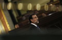 Le président du gouvernement espagnol, Mariano Rajoy, a défendu mercredi sa politique en se targuant d'avoir évité au pays l'humiliation d'un plan de sauvetage international et il a promis de poursuivre la modernisation de l'économie, mais son appétit de réformes structurelles semble affaibli. /Photo prise le 8 mai 2013/REUTERS/Sergio Perez