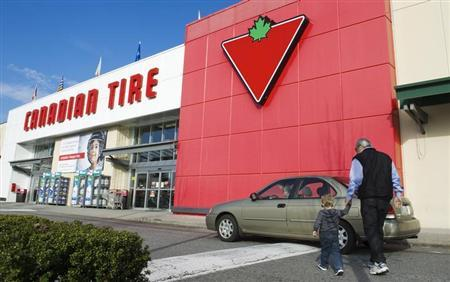 Customers arrive at the Canadian Tire store in North Vancouver, British Columbia February 10, 2011. REUTERS/Andy Clark