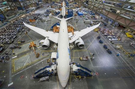 The Boeing 787 Dreamliner Everett 787 Factory is shown in this April 29, 2013 photo released on May 9, 2013. Gail Hanusa/Boeing/Handout via Reuters