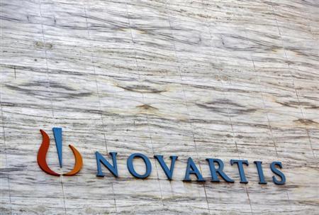 A Novartis logo is pictured on its headquarters building in Mumbai April 1, 2013. REUTERS/Vivek Prakash