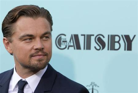 Actor Leonardo DiCaprio attends the 'The Great Gatsby' world premiere at Avery Fisher Hall at Lincoln Center for the Performing Arts in New York May 1, 2013 REUTERS/Andrew Kelly