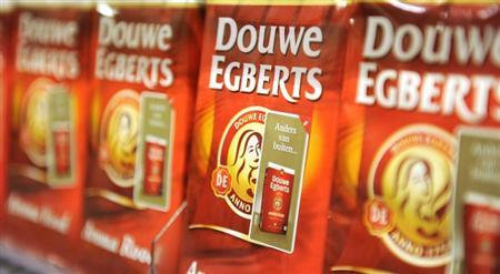 Packets of Douwe Egberts coffee are seen at a supermarket in Amsterdam April 12, 2013. REUTERS/Toussaint Kluiters/United Photos
