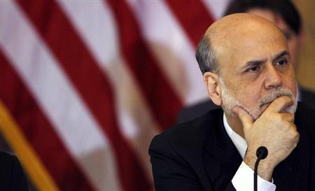 Chairman of the Federal Reserve Bank Ben Bernanke attends the Treasury Department's Financial Stability Oversight Council in Washington April 25, 2013. REUTERS/Gary Cameron