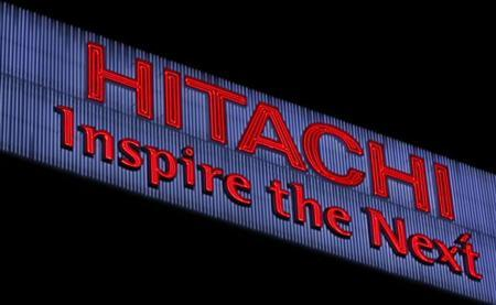 A logo of Hitachi is pictured at Hitachi, northeast of Tokyo December 24, 2012. REUTERS/Yuriko Nakao