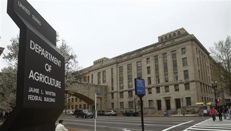 The U.S. Department of Agriculture is seen in Washington, March 18, 2012. REUTERS/Gary Cameron