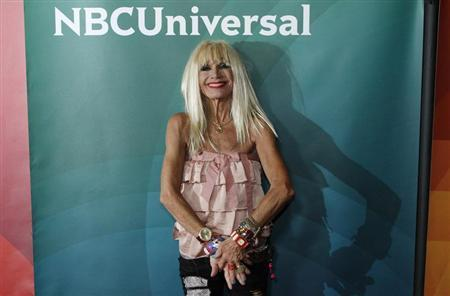 Fashion designer Betsey Johnson, co-host of ''XOX Betsey Johnson'', arrives at the 2013 NBCUniversal Summer Press Day at The Langham Huntington Hotel and Spa in Pasadena, California, April 22, 2013. REUTERS/Jonathan Alcorn