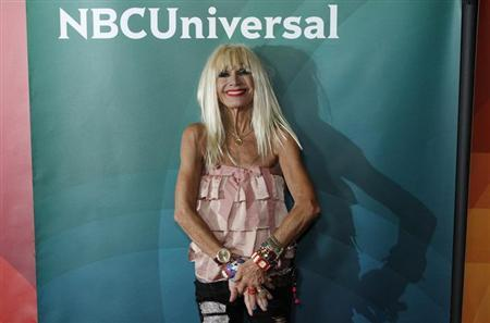 Fashion designer Betsey Johnson, co-host of ''XOX Betsey Johnson'', arrives at the 2013 NBCUniversal Summer Press Day at The Langham Huntington Hotel and Spa in Pasadena, California, April 22, 2013. REUTERS/Jonathan Alcorn/Files