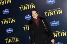 "Producer Kathleen Kennedy arrives for the premiere of the movie ""The Adventures of Tintin"" in New York December 11, 2011. REUTERS/Carlo Allegri"
