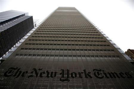 The New York Times building is seen in New York, February 7, 2013. REUTERS/Eric Thayer
