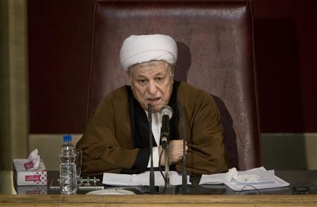 Akbar Hashemi Rafsanjani, head of Iran's Assembly of Experts, speaks during the 7th session of the Assembly in Tehran February 23, 2010. REUTERS/Morteza Nikoubazl