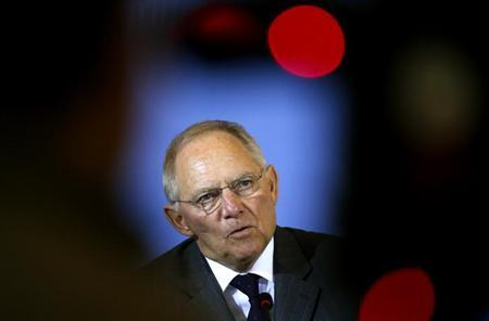 Germany's Finance Minister Wolfgang Schaeuble addresses a news conference in Berlin March 25, 2013. REUTERS/Fabrizio Bensch