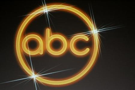 The logo for the ABC television network is shown on a video screen at the Disney ABC Television Group summer press tour in Beverly Hills, California July 16, 200 file photo. REUTERS/Fred Prouser