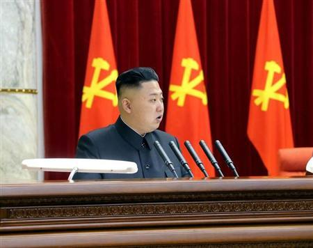 North Korean leader Kim Jong-un speaks during a plenary meeting of the Central Committee of the Workers' Party of Korea in Pyongyang March 31, 2013 in this picture released by the North's official KCNA news agency on April 1, 2013. REUTERS/KCNA