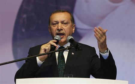 Turkey's Prime Minister Tayyip Erdogan addresses his supporters during a Mother's Day event organized by his ruling Justice and Development Party (AKP) in Istanbul May 12, 2013. REUTERS/Murad Sezer