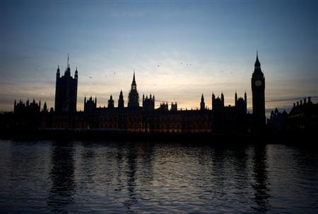 A view of the Houses of Parliament from the River Thames in London March 6, 2012. REUTERS/Kieran Doherty