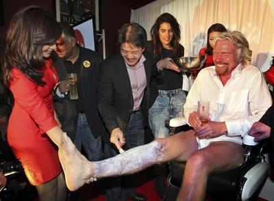 Richard Branson's feminine side
