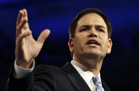 Senator Marco Rubio of Florida speaks at the Conservative Political Action Conference (CPAC) at National Harbor, Maryland March 14, 2013. REUTERS/Kevin Lamarque