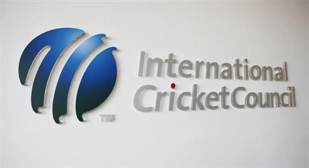 The International Cricket Council (ICC) logo at the ICC headquarters in Dubai, October 31, 2010. REUTERS/Nikhil Monteiro/Files