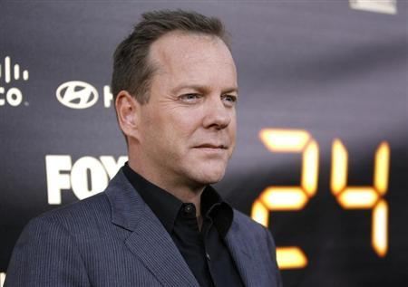Cast member Kiefer Sutherland poses at the party for the television series finale of ''24'' in Los Angeles April 30, 2010. REUTERS/Mario Anzuoni