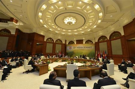 A general view of the retreat during the ASEAN Summit at the Prime Minister's Office in Bandar Seri Begawan April 25, 2013. REUTERS/Ahim Rani