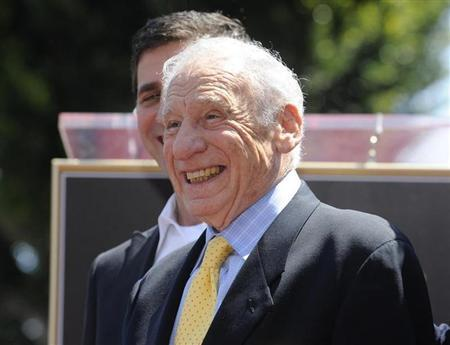 Comedian Mel Brooks smiles during a ceremony where he received a star on the Hollywood Walk of Fame in Los Angeles April 23, 2010. REUTERS/Phil McCarten