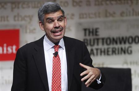 Mohamed El-Erian, chief executive office and co-chief investment officer of PIMCO, speaks during The Economist's Buttonwood Gathering in New York October 24, 2012. REUTERS/Carlo Allegri