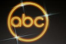 The logo for the ABC television network is shown on a video screen at the Disney ABC Television Group summer press tour in Beverly Hills, California July 16, 2008. REUTERS/Fred Prouser
