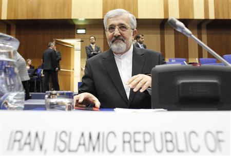 Iran's International Atomic Energy Agency (IAEA) ambassador Ali Asghar Soltanieh reacts as he attends a board of governors meeting at the UN headquarters in Vienna March 4, 2013. REUTERS/Herwig Prammer