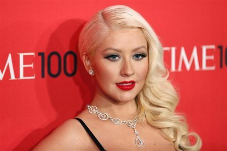 Singer Christina Aguilera arrives for the Time 100 gala celebrating the magazine's naming of the 100 most influential people in the world for the past year, in New York, April 23, 2013. REUTERS/Lucas Jackson