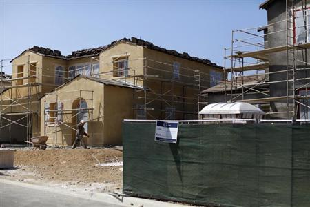 New residential homes are shown under construction in Carlsbad, California September 19, 2011. REUTERS/Mike Blake