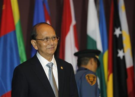 Myanmar's President Thein Sein attends the opening ceremony of the 69th Commission Session of the Economic and Social Commission for Asia and the Pacific (ESCAP) at the United Nations building in Bangkok April 29, 2013. REUTERS/Chaiwat Subprasom