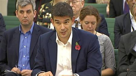 A video grab image shows Google's vice president for northern and central Europe, Matt Brittin, addressing the Public Accounts Committee (PAC) in London November 12, 2012. REUTERS/UK Parliament via Reuters TV