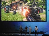 Ubisoft a publié mercredi des résultats annuels en forte hausse et a dit tabler sur des ventes en progression d'environ 13% pour son exercice 2013-2014. /Photo d'archives/REUTERS/Gus Ruelas