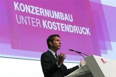 Rene Obermann, Diretor Executivo da Deutsche Telekom AG, em reunião com os acionistas da empresa em Cologne, Alemanha, 16 de maio de 2013. A Vodafone será capaz de oferecer TV por assinatura em banda larga de alta velocidade aos seus clientes alemães sob um novo contrato com a Deutsche Telekom, ampliando seu apelo no mercado europeu mais importante para a empresa britânica. 16/05/2013 REUTERS/Ina Fassbender