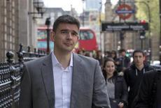 Matt Brittin, vice-président de Google. Une commission parlementaire britannique a accusé jeudi le responsable de Google pour l'Europe du Nord d'avoir dissimulé la nature exacte des activités du groupe au Royaume-Uni afin d'éviter à ce dernier de payer des impôts. /Photo prise le 16 mai 2013/REUTERS/Neil Hall