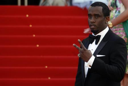 Musician and executive producer Sean ''Diddy'' Combs arrives on the red carpet for the screening of the film ''Lawless'', in competition at the 65th Cannes Film Festival, May 19, 2012. REUTERS/Jean-Paul Pelissier