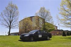 A 2004 Honda Civic EX donated by a local car dealership is seen parked outside Unionville High School in Kennett Square, Pennsylvania in this handout photo taken April 30, 2013. Douglas Scott/Handout via Reuters
