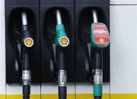 Fuel pumps are seen at a Shell petrol station in London May 15, 2013. REUTERS/Luke MacGregor