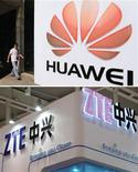 Le commissaire européen au Commerce extérieur Karel De Gucht a pour la première fois mis en cause nommément les équipementiers télécoms chinois Huawei et ZTE pour violation des règles de la concurrence, tard vendredi soir à New York. /Photos d'archives/REUTERS/China Daily