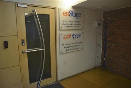 The EnStage Inc. Office is seen in Bangalore May 12, 2013. REUTERS/Stringer