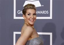 Mezzo soprano Joyce DiDonato poses as she arrives at the 54th annual Grammy Awards in Los Angeles, California February 12, 2012. REUTERS/Danny Moloshok