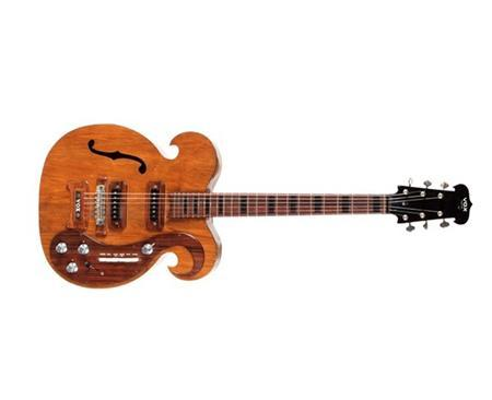A custom-made electric guitar played by the late John Lennon and George Harrison of the Beatles is shown in this Julien's Auctions handout photograph taken at Julien's Gallery in Beverly Hills, California, and released to Reuters on May 18, 2013. The guitar played by the Lennon and Harrison sold at a New York auction on Saturday for $408,000, said officials with the company behind the event. Julien's Gallery/Handout via Reuters