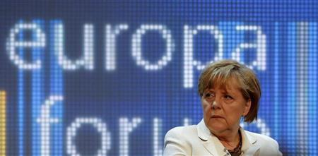 German Chancellor Angela Merkel attends a conference on Europe at the German foreign ministry in Berlin May 16, 2013. REUTERS/Fabrizio Bensch