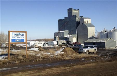 The Trenton Water Depot in Trenton, North Dakota, is seen March 26, 2013. REUTERS/Ernest Scheyder