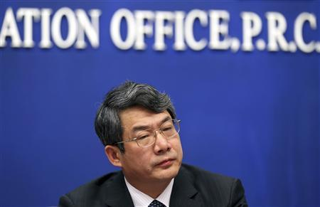 Liu Tienan, then head of the National Energy Administration and deputy chairman of China's National Development and Reform Commission (NDRC), attends a news conference about Spring Festival transport in Beijing in this January 8, 2012 file photograph. REUTERS/Stringer/Files