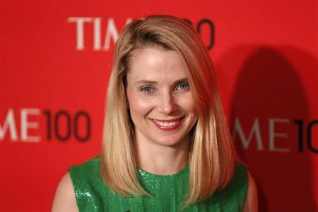 President and CEO of Yahoo, Marissa Mayer, arrives for the Time 100 gala celebrating the magazine's naming of the 100 most influential people in the world for the past year, in New York, April 23, 2013. REUTERS/Lucas Jackson/Files