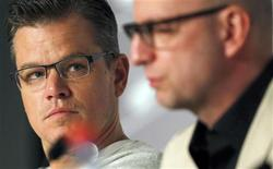 "Cast member Matt Damon (L) and director Steven Soderbergh attend a news conference for the film ""Behind the Candelabra"" during the 66th Cannes Film Festival in Cannes May 21, 2013. REUTERS/Regis Duvignau"