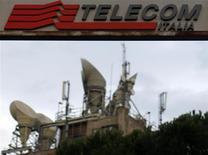 Telecom Italia a démenti mardi envisager de se scinder en plusieurs entités afin de séparer ses activités fixes et mobiles. /Photo d'archives/REUTERS/Alessandro Bianchi
