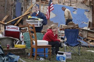 Whole neighborhoods razed by Oklahoma tornado that...