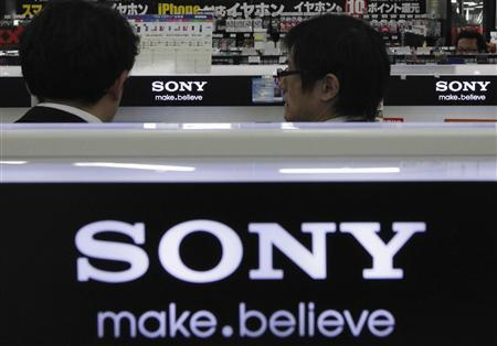 The logos of Sony Corp. are seen at an electronic store in Tokyo in this February 6, 2013 file photo. REUTERS/Shohei Miyano/Files